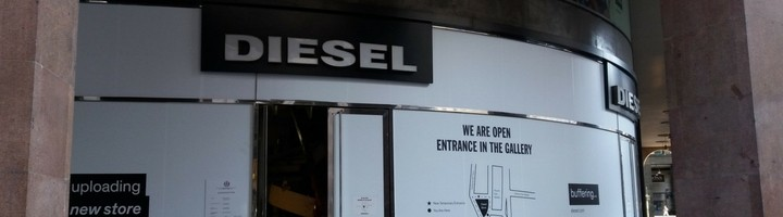 Facciata negozio Diesel Milano - NIVA-line