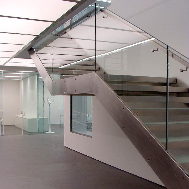 Escalier en acier inox